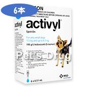 アクティビルスポットオン超小型犬用(1.5〜6.5kg)商品画像